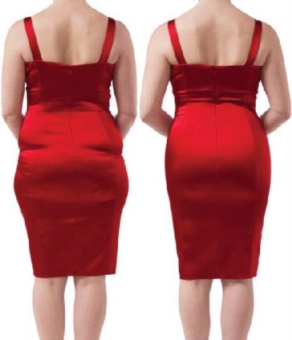 Mooie Rode Jurk.413x480 Shapewear Onder Rode Jurk Krachtig Mooi